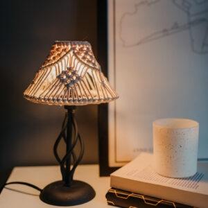 makramee lamp